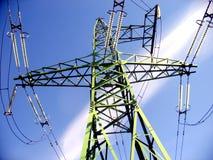 ηλεκτρο καλώδιο πύργων Στοκ Εικόνες