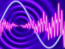 Ηλεκτρο disco - ομόκεντρες κυματώσεις με τα κυματοειδή στοκ εικόνα