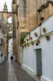 Ηληκιωμένος Arcos de στο Λα Frontera κοντά στο Καντίζ Ισπανία Στοκ Εικόνες