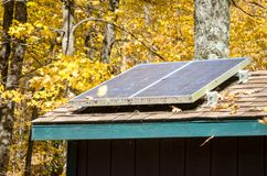 Ηλιακά πλαίσια στεγών Στοκ εικόνες με δικαίωμα ελεύθερης χρήσης