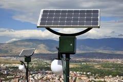 Ηλιακά τροφοδοτημένα φω'τα Στοκ φωτογραφία με δικαίωμα ελεύθερης χρήσης