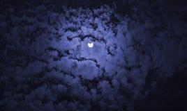 Ηλιακή όψη έκλειψης από το μπλε φίλτρο Στοκ εικόνα με δικαίωμα ελεύθερης χρήσης
