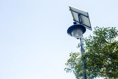 Ηλιακοί λαμπτήρες οδών Στοκ φωτογραφία με δικαίωμα ελεύθερης χρήσης