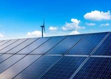 ηλιακός αέρας ισχύος Στοκ Εικόνα