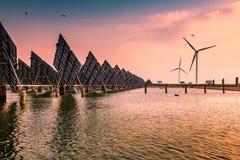 ηλιακός αέρας ισχύος Στοκ Φωτογραφία