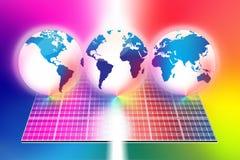 ηλιακός κόσμος ενεργειακών επιτροπών απεικόνιση αποθεμάτων