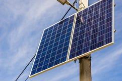 Ηλιακό κύτταρο στο στυλοβάτη Στοκ εικόνες με δικαίωμα ελεύθερης χρήσης