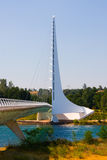 ηλιακό ρολόι γεφυρών Στοκ εικόνες με δικαίωμα ελεύθερης χρήσης