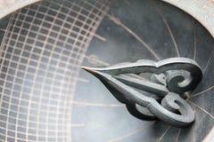 Ηλιακό ρολόι που γίνεται στην εποχή της δυναστείας Joseon που επιδεικνύεται στοκ φωτογραφία
