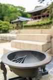 Ηλιακό ρολόι που γίνεται στην εποχή της δυναστείας Joseon που επιδεικνύεται στοκ φωτογραφίες με δικαίωμα ελεύθερης χρήσης