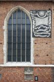 Ηλιακό ρολόι στην εκκλησία του ST Mary ` s της Κρακοβίας Πολωνία Στοκ Φωτογραφία