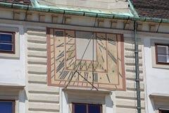 Ηλιακό ρολόι στη Βιέννη στοκ φωτογραφίες με δικαίωμα ελεύθερης χρήσης