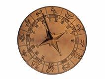 ηλιακό ρολόι χαλκού στοκ φωτογραφίες