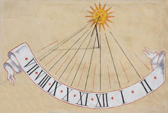 ηλιακό ρολόι Στοκ φωτογραφίες με δικαίωμα ελεύθερης χρήσης