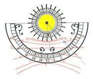 ηλιακό ρολόι Απεικόνιση αποθεμάτων