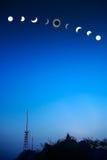ηλιακό σύνολο έκλειψης Στοκ εικόνα με δικαίωμα ελεύθερης χρήσης