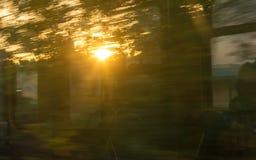 Ηλιαχτίδες στο διαμέρισμα τραίνων Στοκ φωτογραφίες με δικαίωμα ελεύθερης χρήσης