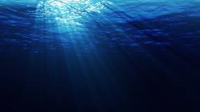Ηλιαχτίδες υποβρύχιες απόθεμα βίντεο