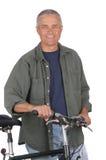 ηλικίας μέση ατόμων ποδηλάτ& Στοκ Εικόνα