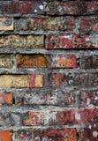 ηλικίας τοίχος σύστασης τούβλου Στοκ εικόνα με δικαίωμα ελεύθερης χρήσης