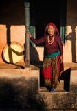 Ηλικιωμένη γυναίκα, Νεπάλ στοκ φωτογραφίες