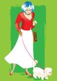 ηλικιωμένη γυναίκα ελεύθερη απεικόνιση δικαιώματος