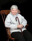 ηλικιωμένη γυναικεία συ&n Στοκ Εικόνα