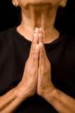 ηλικιωμένη προσευμένος γυναίκα Στοκ Φωτογραφίες