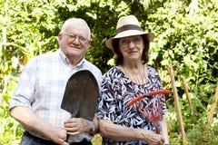 Ηλικιωμένοι κηπουροί Στοκ Φωτογραφίες