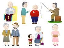 Ηλικιωμένοι απεικόνιση αποθεμάτων