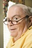 ηλικιωμένο άτομο γυαλιών Στοκ Φωτογραφία