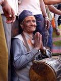 Ηλικιωμένο άτομο σε Bisket Jatra στοκ φωτογραφίες με δικαίωμα ελεύθερης χρήσης