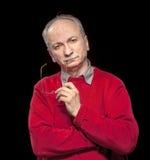 ηλικιωμένο άτομο στοχαστικό Στοκ φωτογραφίες με δικαίωμα ελεύθερης χρήσης