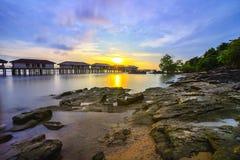 Ηλιοβασίλεμα άποψη-3 από το riau Ινδονησία Ασία νησιών batam στοκ φωτογραφία
