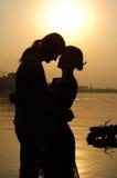 ηλιοβασίλεμα αγάπης Στοκ Εικόνα