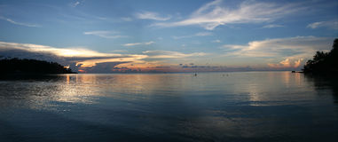 ηλιοβασίλεμα αγνότητας &p στοκ εικόνα