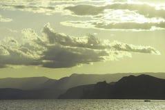 ηλιοβασίλεμα ανασκόπησ&et Στοκ φωτογραφία με δικαίωμα ελεύθερης χρήσης
