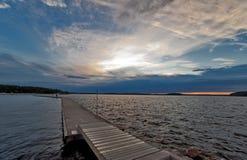 ηλιοβασίλεμα αποβαθρών Στοκ Εικόνα