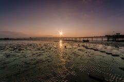 Ηλιοβασίλεμα αποβαθρών Southend στοκ εικόνες με δικαίωμα ελεύθερης χρήσης