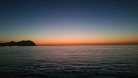 Ηλιοβασίλεμα από τη Σικελία Στοκ φωτογραφία με δικαίωμα ελεύθερης χρήσης