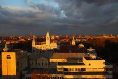 ηλιοβασίλεμα αστικό Στοκ Εικόνες