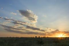 ηλιοβασίλεμα Αυγούστ&omicro Στοκ Εικόνα