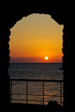 ηλιοβασίλεμα αψίδων Στοκ φωτογραφία με δικαίωμα ελεύθερης χρήσης