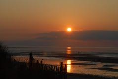 ηλιοβασίλεμα βακαλάων &alp στοκ φωτογραφίες