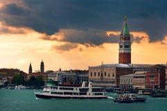 ηλιοβασίλεμα Βενετία Στοκ εικόνες με δικαίωμα ελεύθερης χρήσης