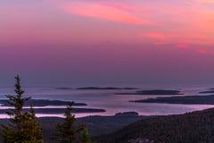 Ηλιοβασίλεμα βουνών Cadillac στοκ φωτογραφία με δικαίωμα ελεύθερης χρήσης