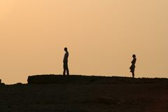 ηλιοβασίλεμα διαζυγίο Στοκ φωτογραφία με δικαίωμα ελεύθερης χρήσης