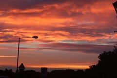 ηλιοβασίλεμα δονούμεν&omic Στοκ εικόνες με δικαίωμα ελεύθερης χρήσης