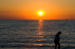 ηλιοβασίλεμα δραστηριοτήτων Στοκ φωτογραφία με δικαίωμα ελεύθερης χρήσης