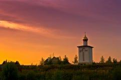 ηλιοβασίλεμα εκκλησιώ&n Στοκ Εικόνα